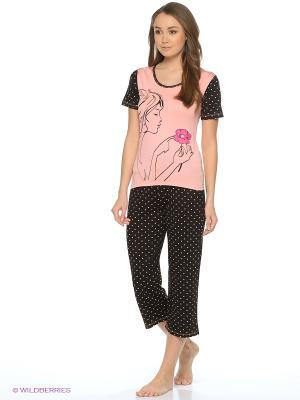 Пижама NICOLETTA. Цвет: черный, коралловый
