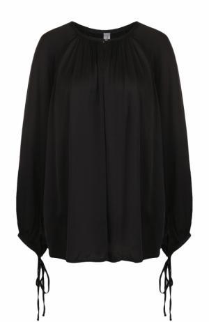 Блуза свободного кроя с круглым вырезом Raquel Allegra. Цвет: черный
