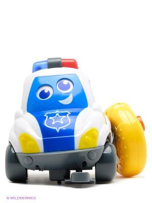 Машинка музыкальная с пультом Полиция BKIDS. Цвет: желтый, белый