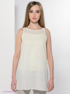 Блузка Colletto Bianco. Цвет: молочный