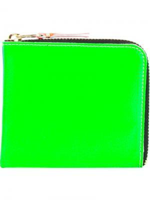 Двухцветная визитница Comme Des Garçons Wallet. Цвет: синий