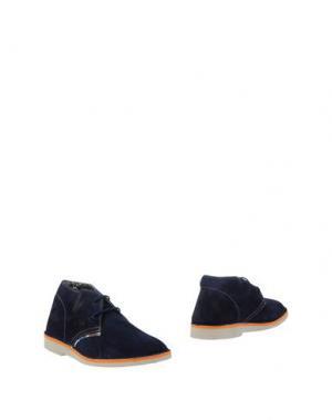 Полусапоги и высокие ботинки LE CROWN. Цвет: темно-синий