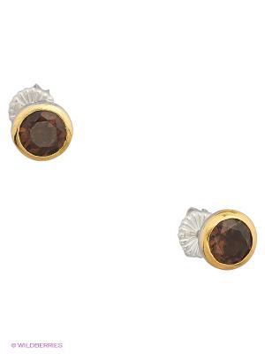Серьги BALEX. Цвет: золотистый, коричневый, серебристый