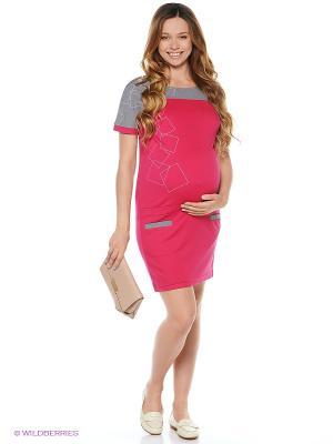 Трикотажное платье для беременных impressmama