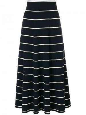 Полосатая расклешенная юбка Chinti & Parker. Цвет: синий