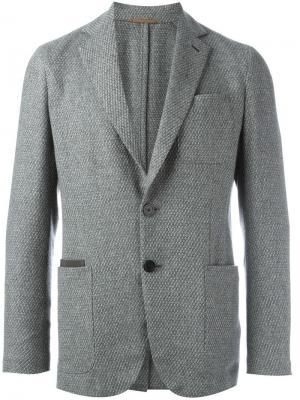 Пиджак с застежкой на пуговицы Berluti. Цвет: серый