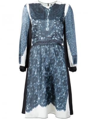Платье с кружевной отделкой Marc Jacobs. Цвет: синий