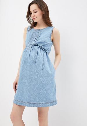 Платье джинсовое Budumamoy. Цвет: голубой