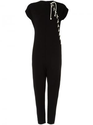 Lace-up jumpsuit Uma | Raquel Davidowicz. Цвет: чёрный