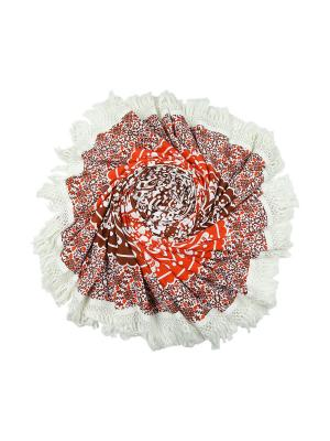 Покрывало круглое диаметр 220 см ETHNIC CHIC. Цвет: бежевый, красный