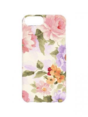 Чехол для iPhone 7Plus Цветы акварелью Арт. 7Plus-234 Chocopony. Цвет: белый, розовый