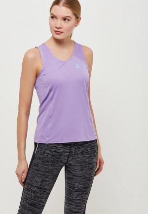 Майка спортивная Salomon. Цвет: фиолетовый