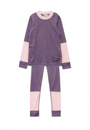 Термобелье Craft. Цвет: фиолетовый