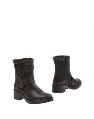 Полусапоги и высокие ботинки DESIGUAL. Цвет: темно-коричневый