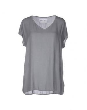 Блузка BRAND UNIQUE. Цвет: серый