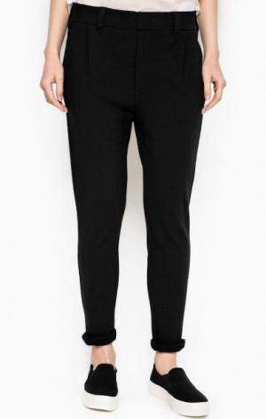 Зауженные черные брюки из хлопка DRYKORN. Цвет: черный