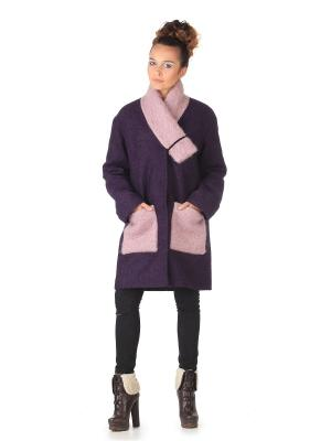 Пальто Artwizard. Цвет: фиолетовый, розовый