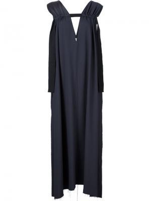 Платье без рукавов Damir Doma. Цвет: синий