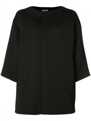 Куртка с потайной застежкой Y-3. Цвет: чёрный