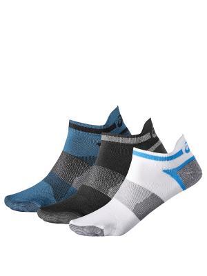 Носки 3 пары в упаковке) 3PPK LYTE SOCK ASICS. Цвет: белый, серый, темно-синий