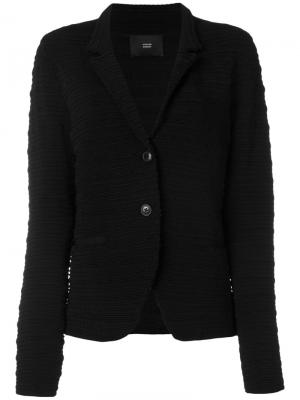 Single button ribbed jacket Steffen Schraut. Цвет: чёрный