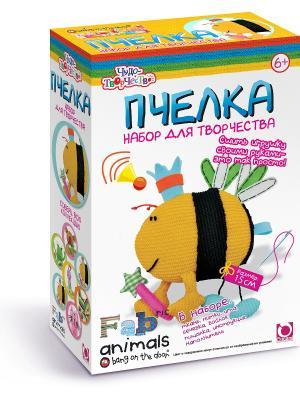 Чудо -Творчество. Fabric animals Сшей игрушку Пчелка. Чудо-творчество. Цвет: желтый, белый, голубой