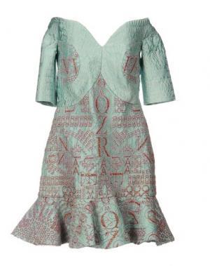 Короткое платье MARY KATRANTZOU. Цвет: светло-зеленый