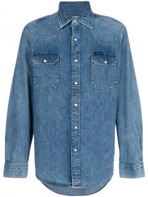Джинсовая рубашка Western Calvin Klein Jeans. Цвет: синий