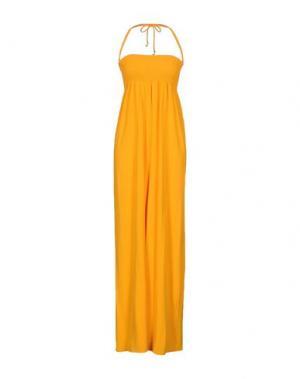Длинное платье PATRIZIA PEPE. Цвет: оранжевый