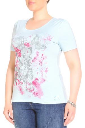 Блуза LOLA PALTINGER. Цвет: аквамарин