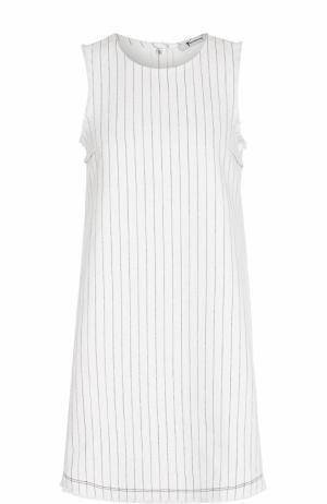 Хлопковое мини-платье А-силуэта T by Alexander Wang. Цвет: белый
