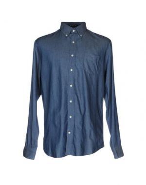 Джинсовая рубашка GANT. Цвет: синий