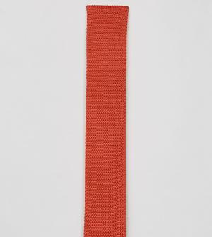 Noose & Monkey Вязаный галстук. Цвет: оранжевый
