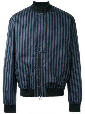 Куртка-бомбер Shariar Qasimi. Цвет: синий