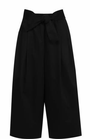 Укороченные широкие брюки с поясом Tome. Цвет: черный