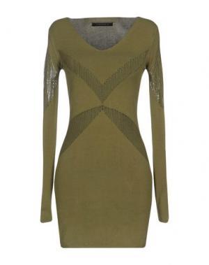 Короткое платье TENAX. Цвет: зеленый-милитари