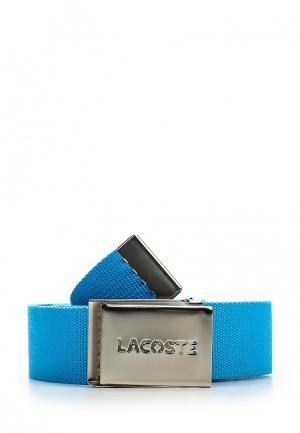 Ремень Lacoste. Цвет: голубой