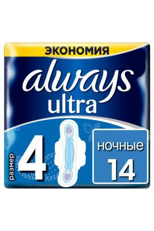 Прокладки Ultra Night, 14 шт ALWAYS. Цвет: none