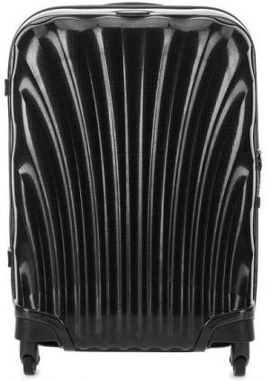 Маленький серый чемодан на колесах Samsonite. Цвет: серый