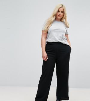 New Look Plus Черные широкие брюки Curve. Цвет: черный