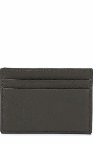 Кожаный футляр для кредитных карт Valentino. Цвет: оливковый