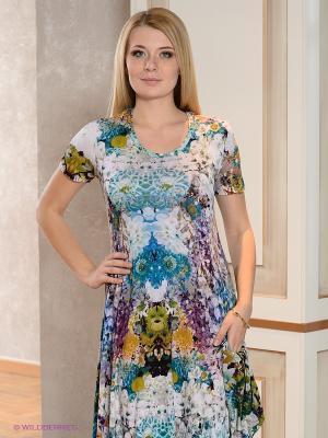 Платье МадаМ Т. Цвет: фиолетовый, бледно-розовый, горчичный, зеленый