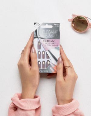 Elegant Touch Овальные накладные ногти. Цвет: розовый