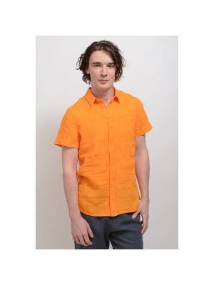 Сорочка Хуго-2 LINO RUSSO. Цвет: оранжевый