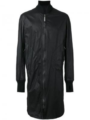 Длинная куртка бомбер Isaac Sellam Experience. Цвет: чёрный