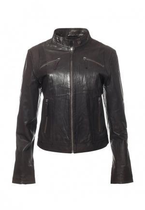 Куртка Московская меховая компания. Цвет: коричневый