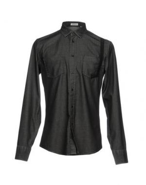 Джинсовая рубашка BIKKEMBERGS. Цвет: черный