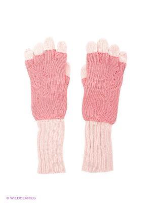 Перчатки S`Cool. Цвет: розовый, бледно-розовый