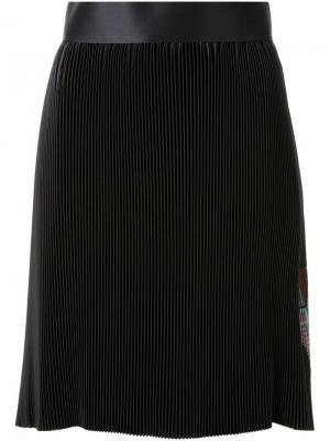 Плиссированная юбка с принтом Thomas Tait. Цвет: чёрный