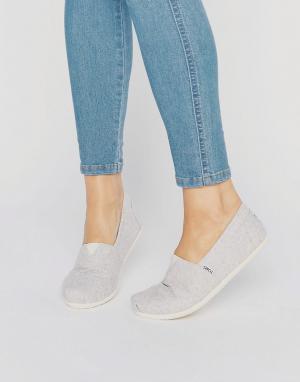 Toms Светлые шерстяные туфли. Цвет: серый